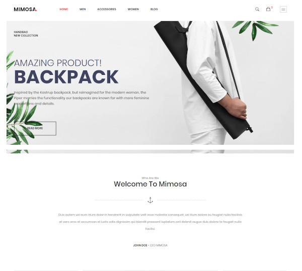 mimosa responsive fashion opencart theme