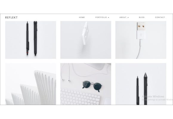 minimalist portfolio theme