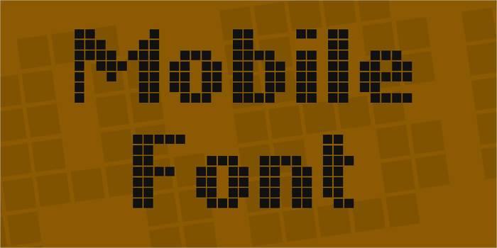 mobile font1