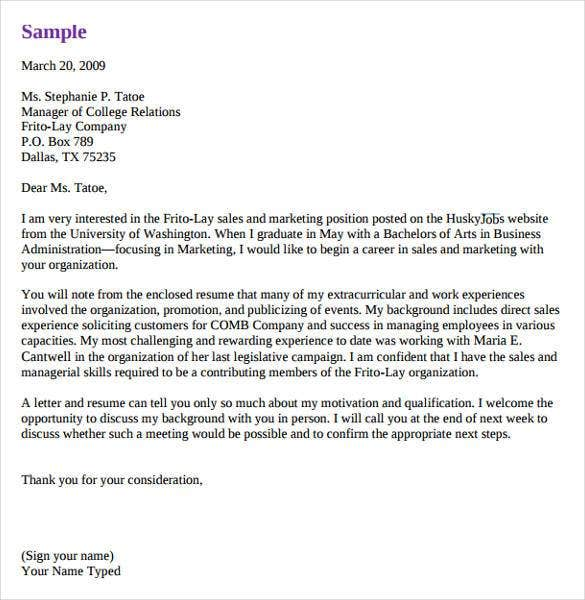 Marketing Cover Letter Sales Cover Letter Template Free Word Pdf
