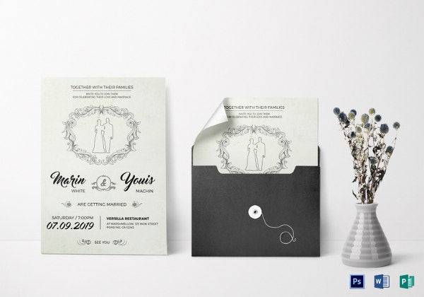 708675886c Modern Wedding Invitation Template PSD Download
