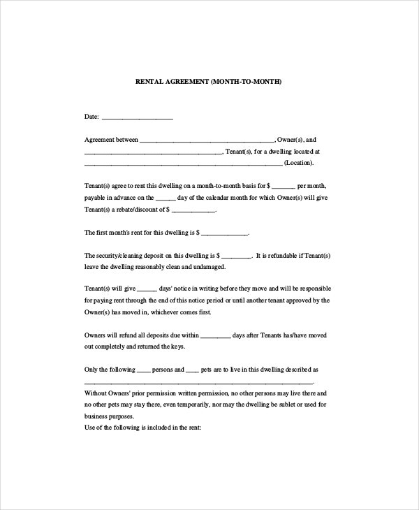 month-rental-agreement-template