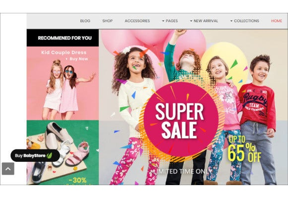multipurpose baby and kids store opencart theme