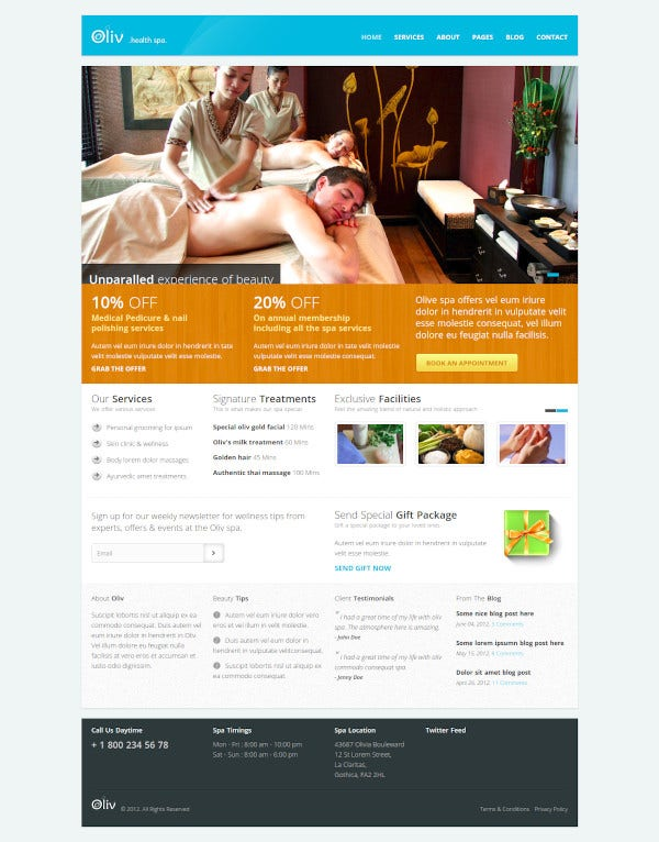 oliv responsive spa template1