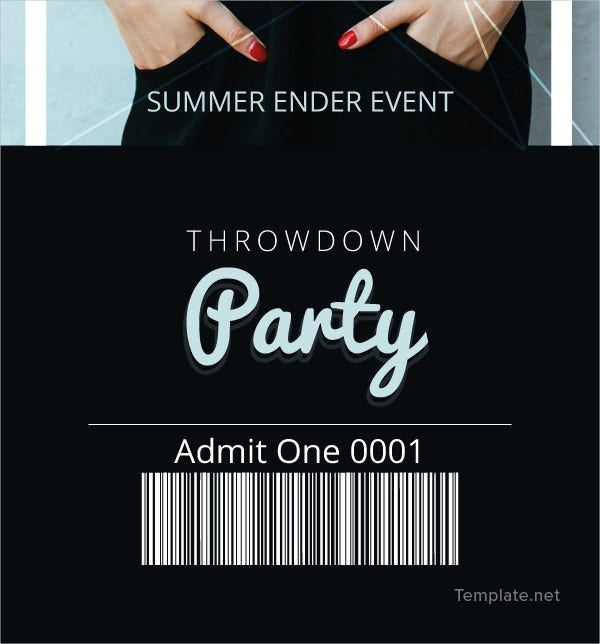 party-admission-ticket-template