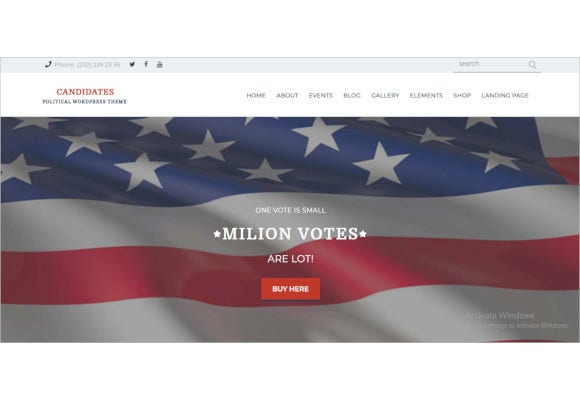political and activism wordpress theme