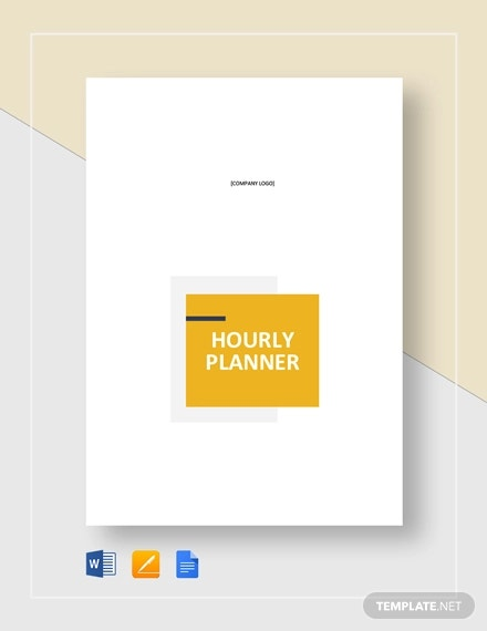 printable hourly planner template1
