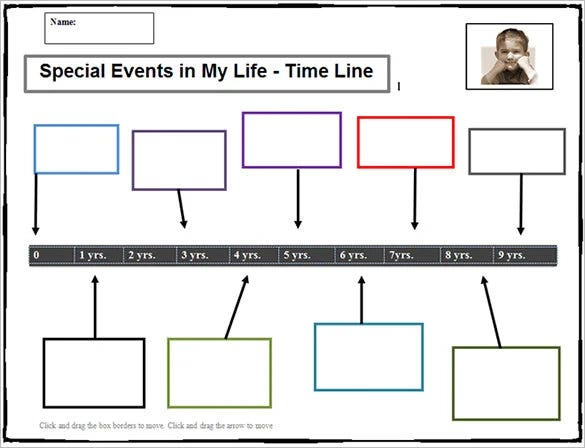 printable timeline template for student