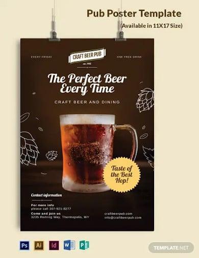 pub poster template