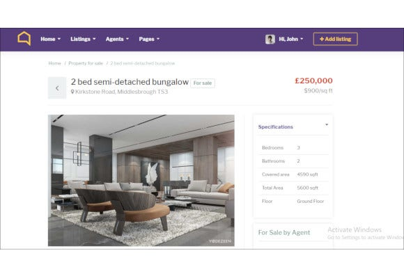 real estate bootstrap html template