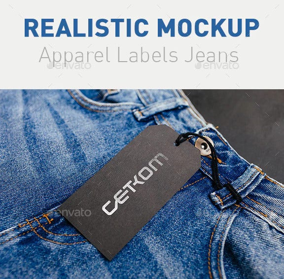 realistic clothing labels jeans