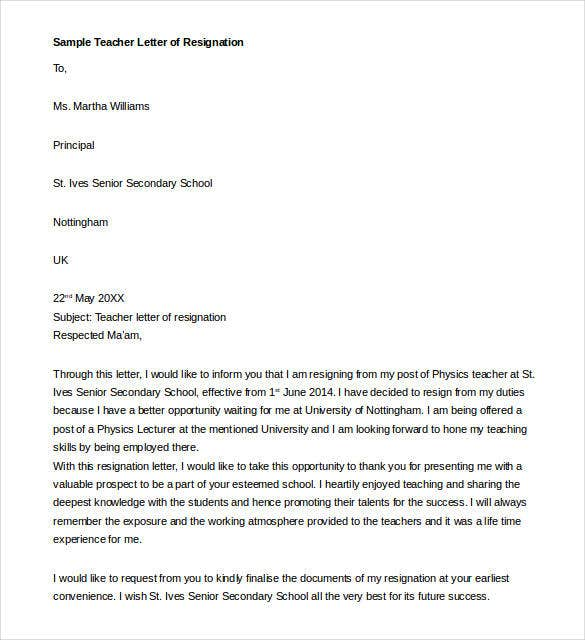 personal reasons, two weeks notice, simple sample, for kappa, sample teacher, on teacher resignation letter template pdf