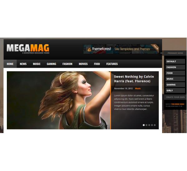 responsive blog magazine style theme
