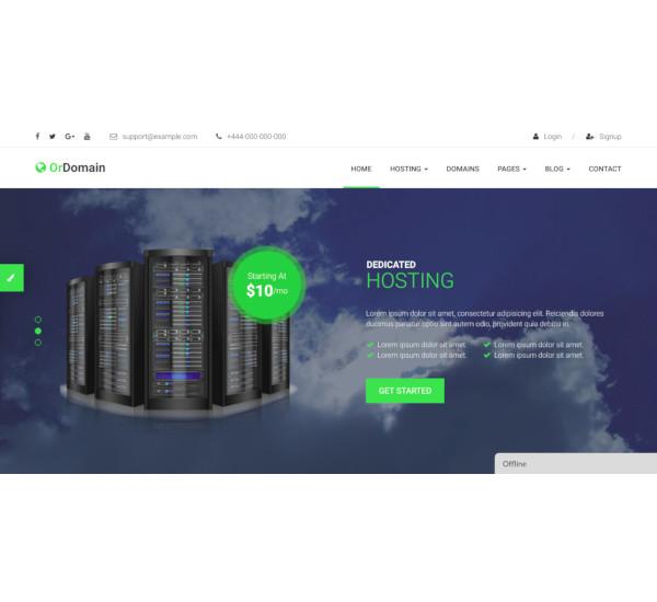 responsive html5 hosting template