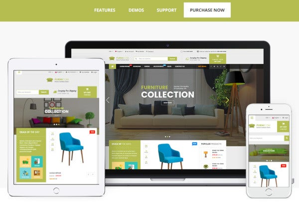 responsive prestashop furniture theme