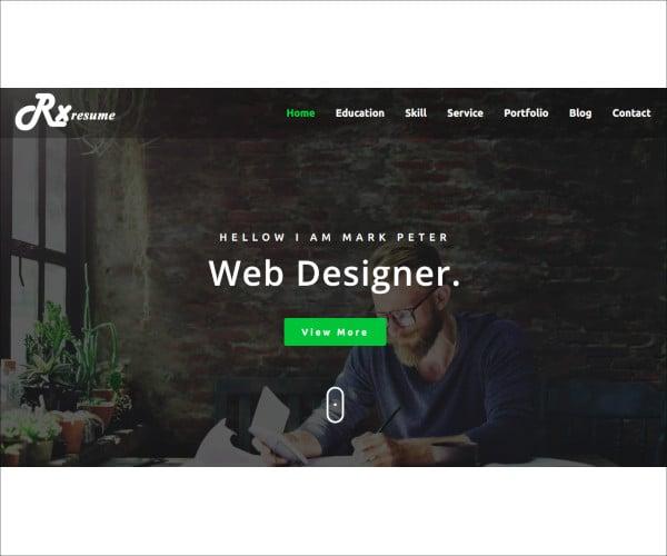 resume portfolio resume html5 template