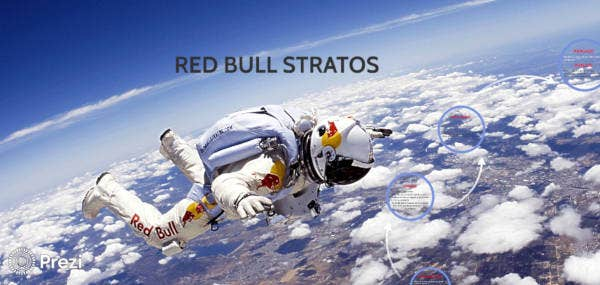 sample awesome red bull stratos prezi download