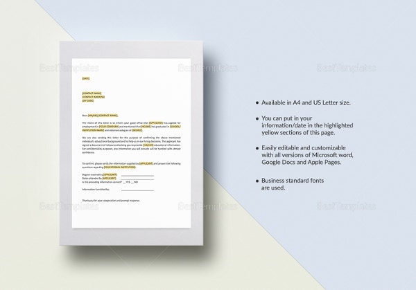 Free Reference Letter Templates 32 Free Word PDF Documents – Reference Letter Template Microsoft Word