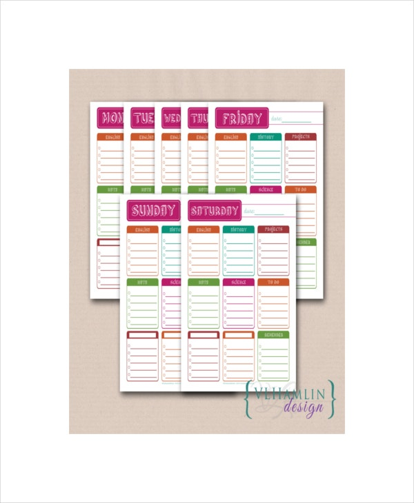 sample school student daily planner3