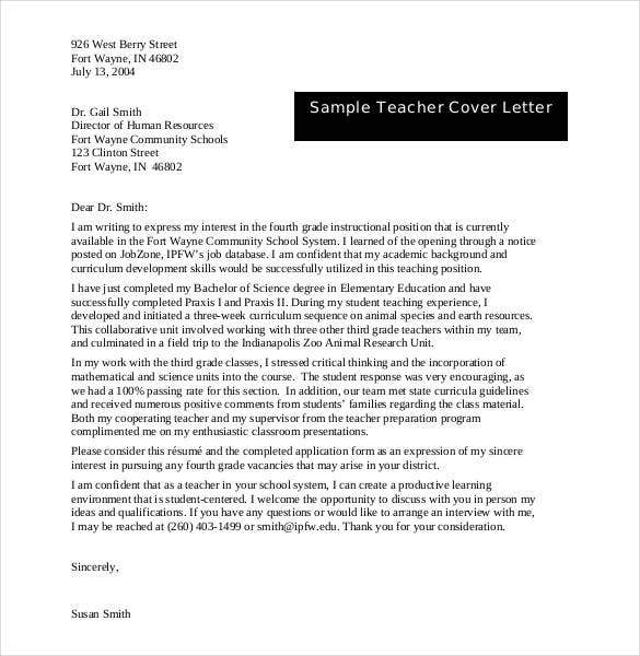 54 free cover letter templates pdf doc free premium templates sample teacher expression of interest cover letter spiritdancerdesigns Choice Image