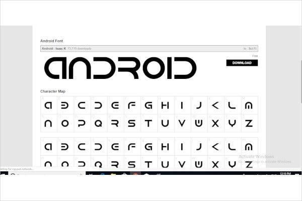 simple android fonts