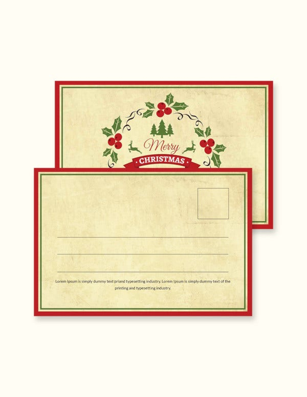 simple-christmas-postcard-template
