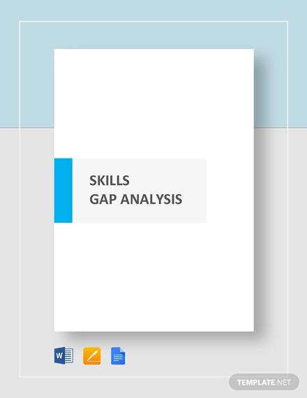 skills gap analysis template