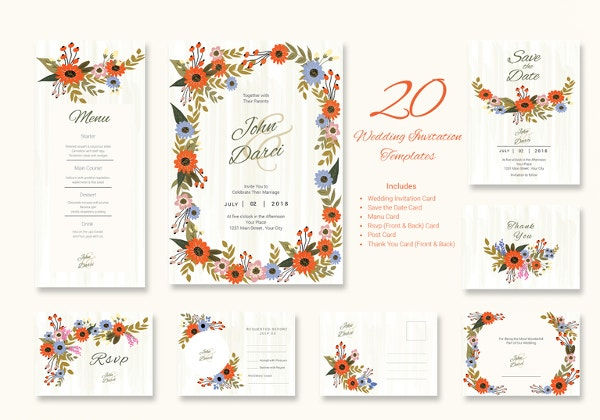 small-flower-wedding-suite-template