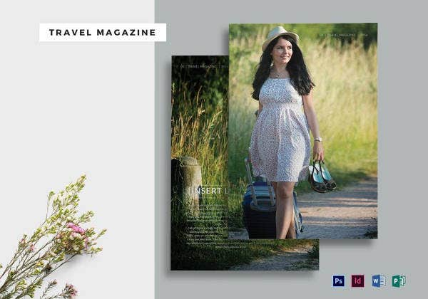 travel brand new magazine template