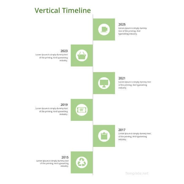 vertical timeline template