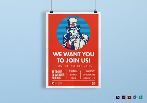 we want you posters