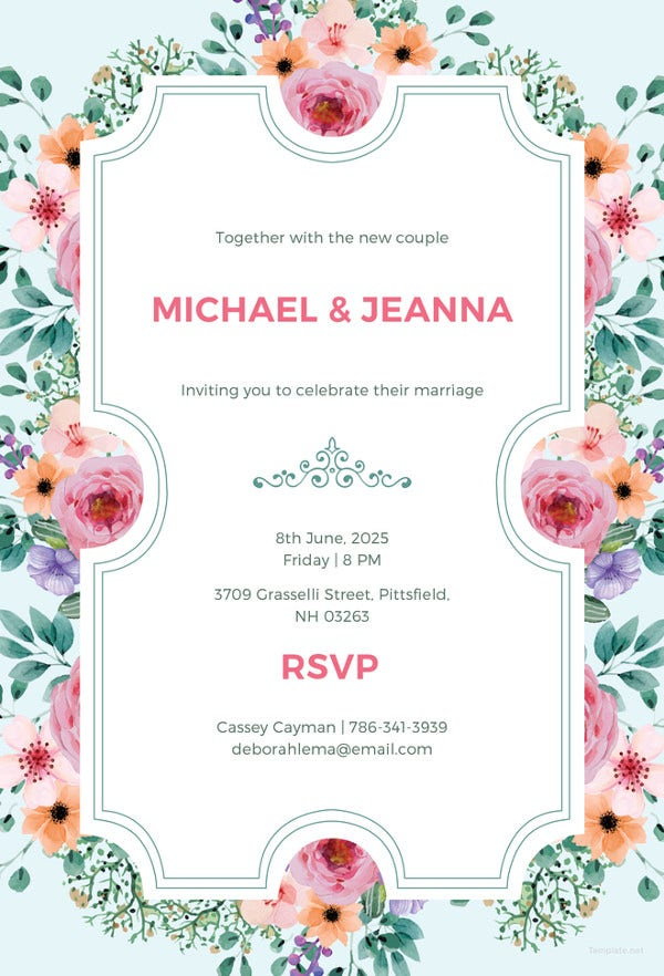 wedding ticket invitation template