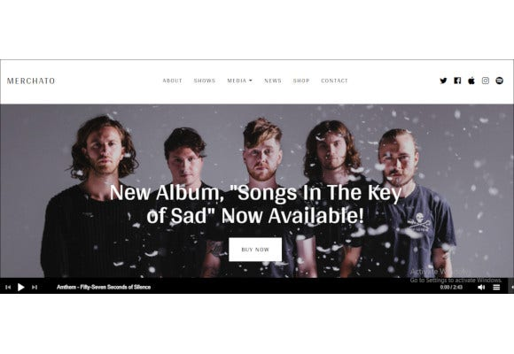 ecommerce wordpress theme for musicians