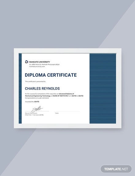 free mechanical diploma certificate
