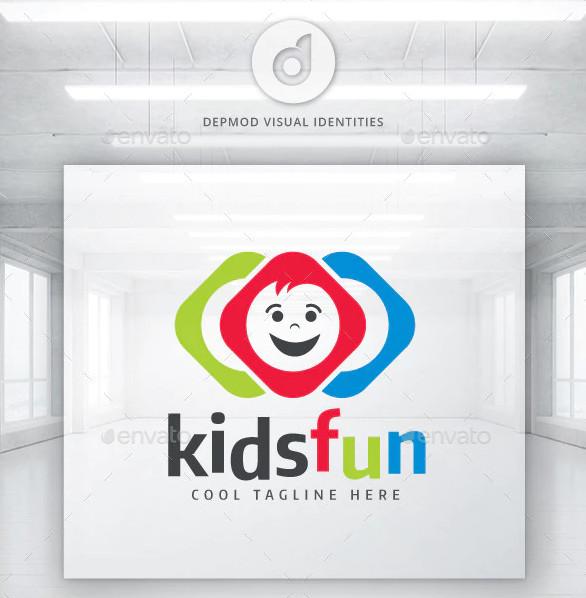 kids funny logo
