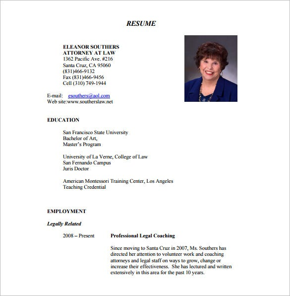 personal injury lawyer resume pdf free template - Lawyer Resume Template Word