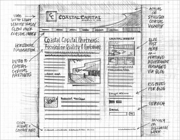 coastal capital partners wireframe website