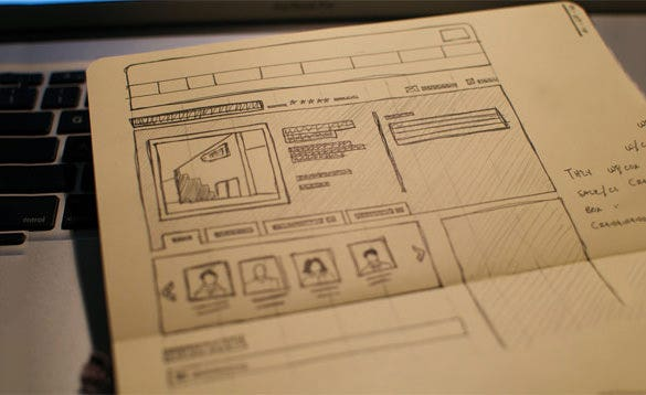 new local wireframe website for you