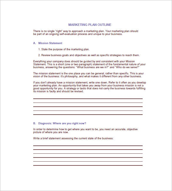 Small Business Marketing Plan Template Free Word Excel PDF - Marketing plan for small business template