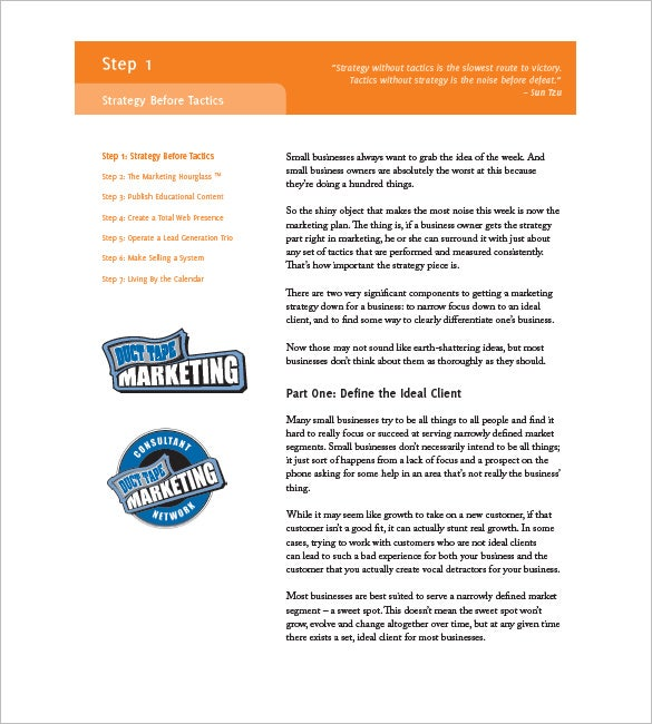 how to write a small business marketing plan