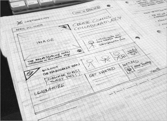 cartoonity website wireframe example for you