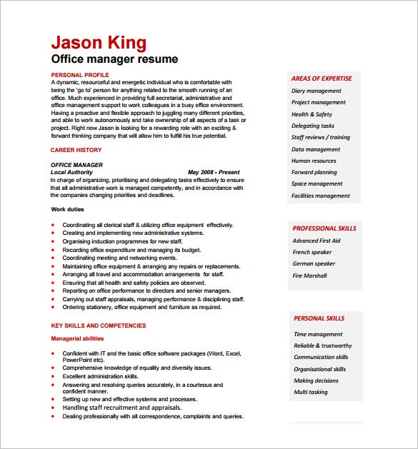 manager resume template free word excel pdf format - Entry Level Project Manager Resume