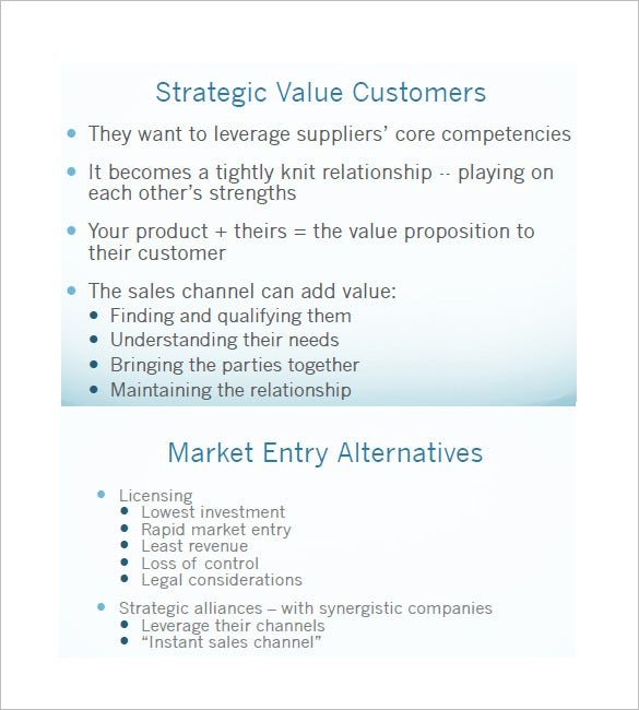 sales and marketing plan template free download
