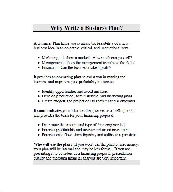 business marketing plan example