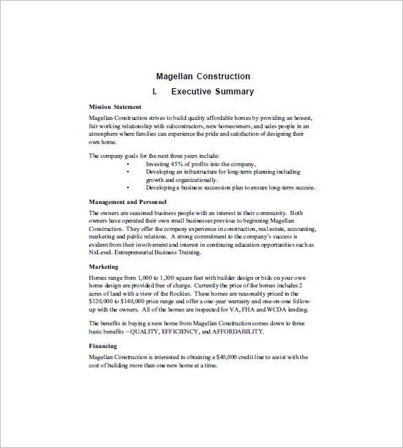 marketing business plan template pdf