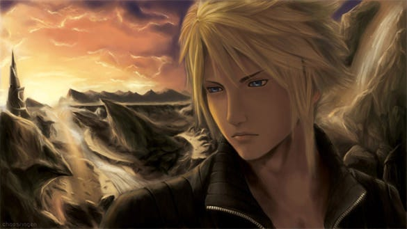 cloud strife picture 2d art