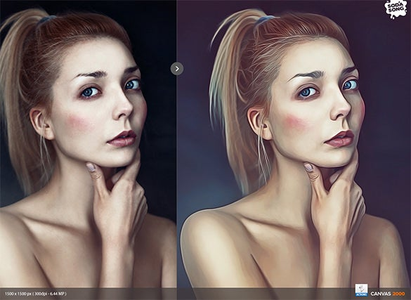 realistic painting effect photoshop
