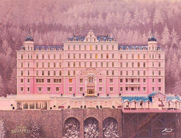 the grand budapest hotel painting