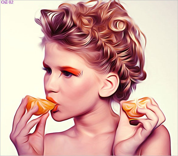 realistic oil paint effects dng format