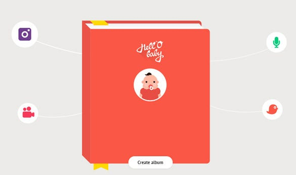 interactive baby albums witn css3 animation